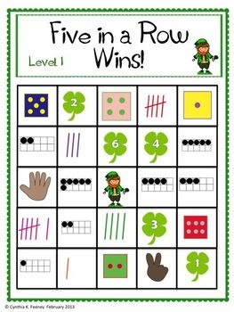 Five Fabulous St. Patricks Day Math Centers; all follow the common core for kindergarten! $5.25