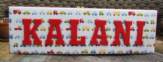 Car Nursery Letters Boy