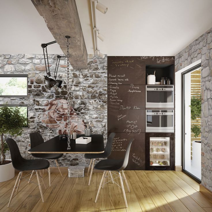 """This wallpaper's an actress: it looks like a stone wall but it's not. If you'd love to put a rustic touch in a room with the minimum effort here you are.  Subject: """"Stone Wall""""  #Tecnografica #wallpaper #cartadaparati #ideas #decor #restructure"""