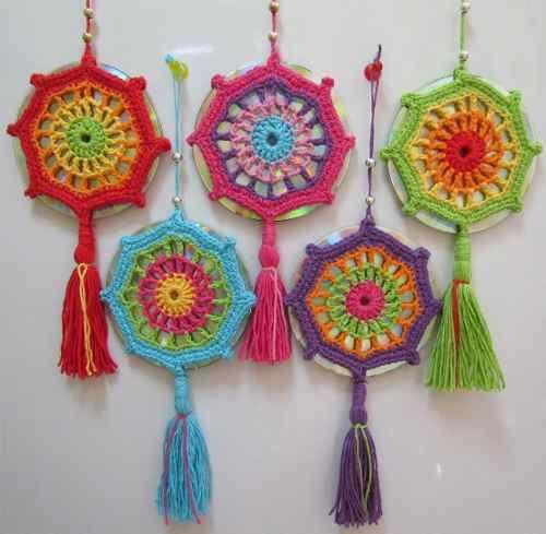Mandala Tejida Al Crochet (con Cd) - Colgante - $ 60,00