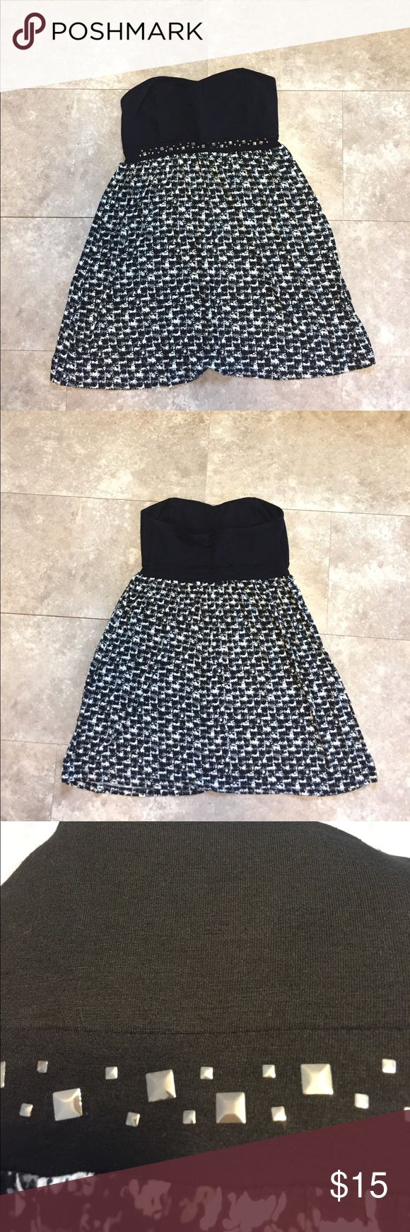 Black and white camouflage dress Comfortable, yet formal dress for any occasion!! City Streets Dresses Strapless