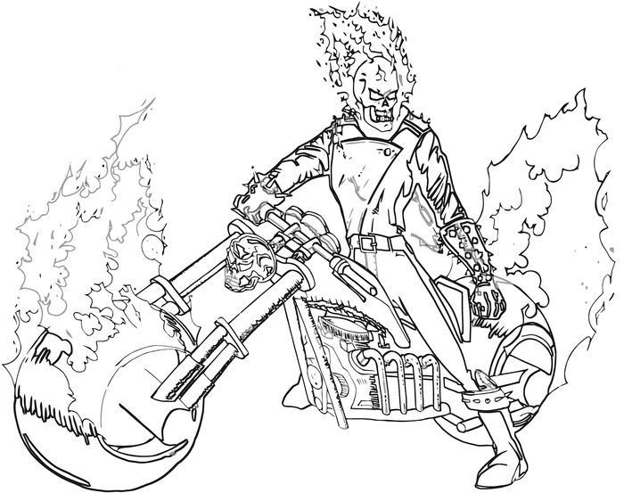 Marvel Ghost Rider Coloring Pages Ghost Rider Marvel Ghost Rider Tattoo Coloring Pages