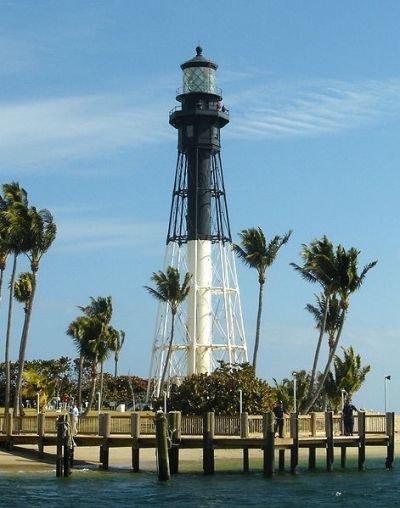 Hillsboro Inlet Lighthouse in Pompano Beach. I live right down the beach from here and can see the  light house from my living room.
