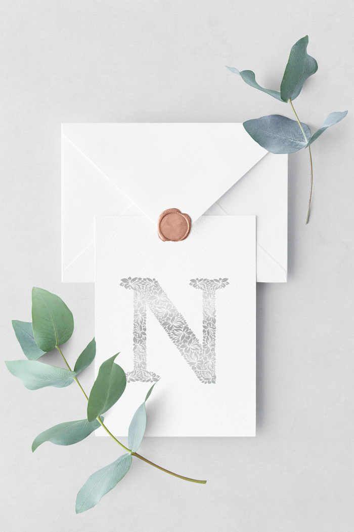 عکس پروفایل حرف N جدید زیبا و خاص Paper Logo Infographic Design Free Wedding Letters