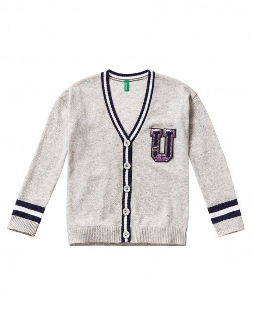 Shop Cardigan with sequins Light Gray for Cardigans at the official United Colors of Benetton online shop.