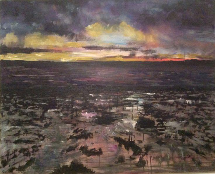 Acrylic on canvas, Southsea Beach by Amy Routledge Art