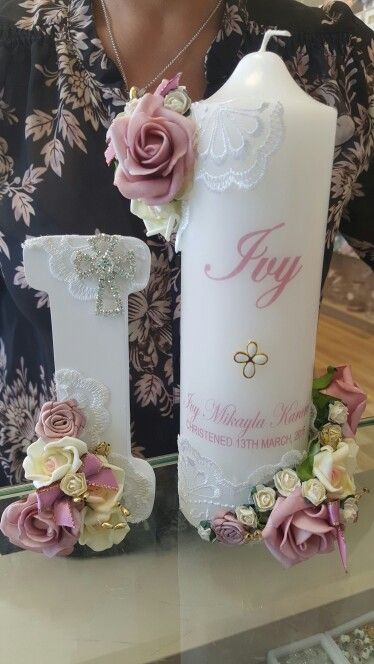 Personalised candle centerpieces