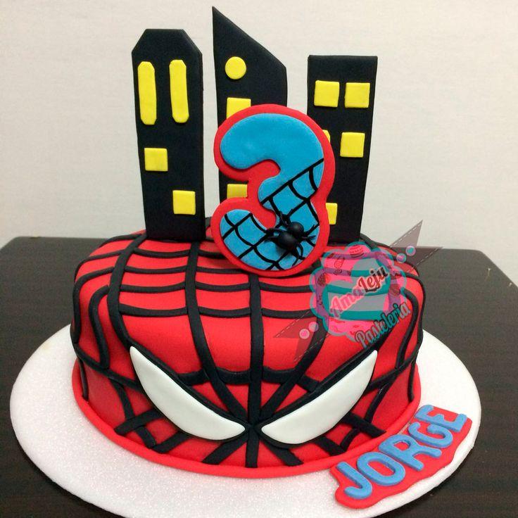 Torta Hombre Araña Realiza tu pedido por; https://goo.gl/mvYBYv WhatsApp: 3058556189, fijo 8374484  correo info@amaleju.com.co Síguenos en Twitter: @amaleju / Instagram: AmaLeju #torta #Cake #tortasbogota #tortapersonalizadas #superheroes #hombrearaña