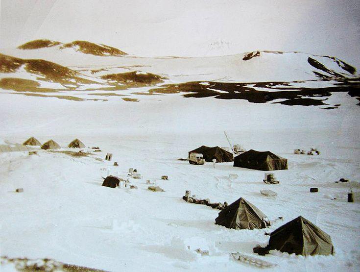 McMurdo Station, Antarctica, December 1955.