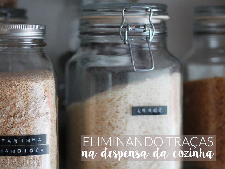 Saiba como eliminar traças de cereais na sua despensa/armários de cozinha. Post completinho com dicas e soluções caseiras em http://gordelicias.biz.