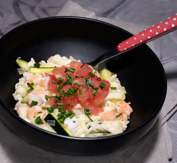 """Ceci n'est pas un risotto ! Les risotto-risotti, c'est là ( clic ) ! Non, car, même si c'est du riz italien je n'ai pas fait un risotto sous peine d'entendre : """"Encore"""" !!! Vous le savez tous, il y a une très grande variété de riz (plus de 140000 paraît-il),..."""