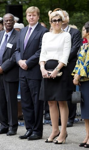 MYROYALS FASHİON: King Willem-Alexander and Queen Maxima visited the commemoration of the abolition of slavery at Oosterpark in Amsterdam-June 30, 2013