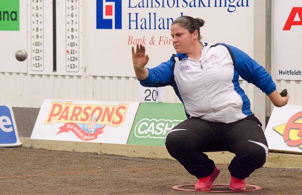 Championnat d'Europe individuel 2016 à Halmstad en Suède Audrey Bandiera face à Yolanda Mattaranz