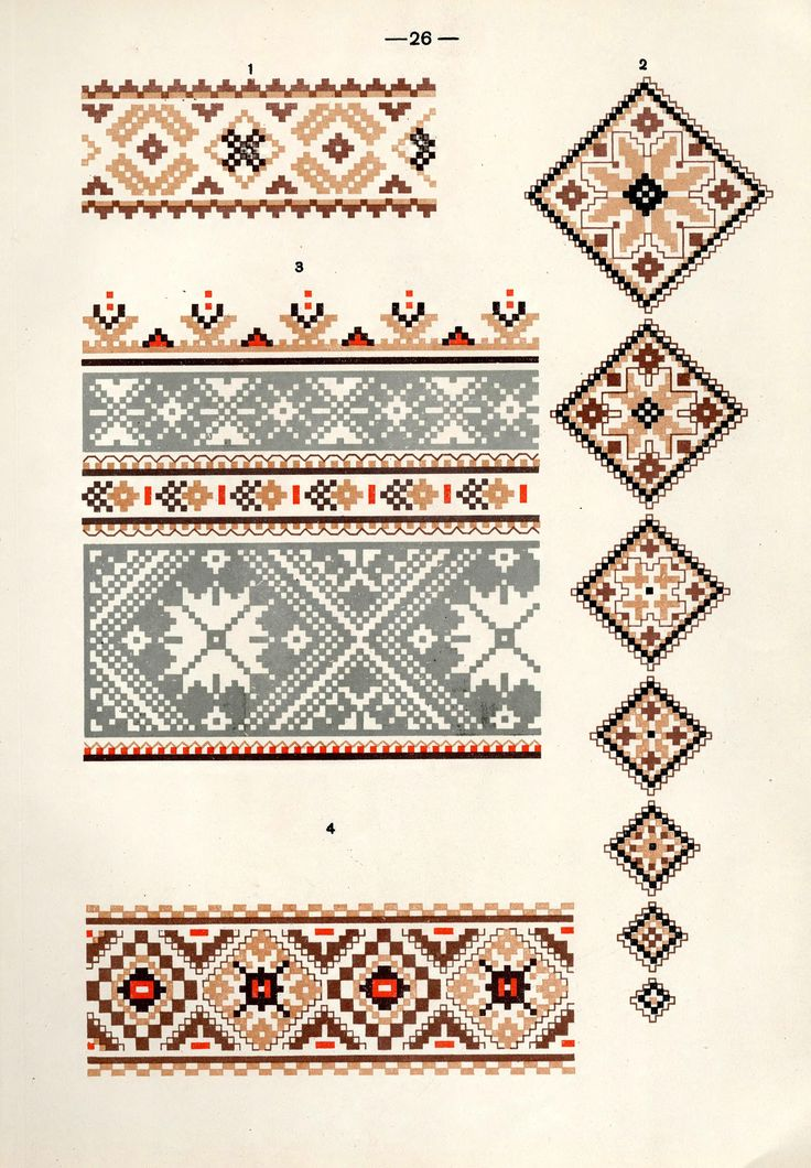 Free Clip Art and Digital Collage Sheet - Belarusian ethnic embroidery | Magic of Color