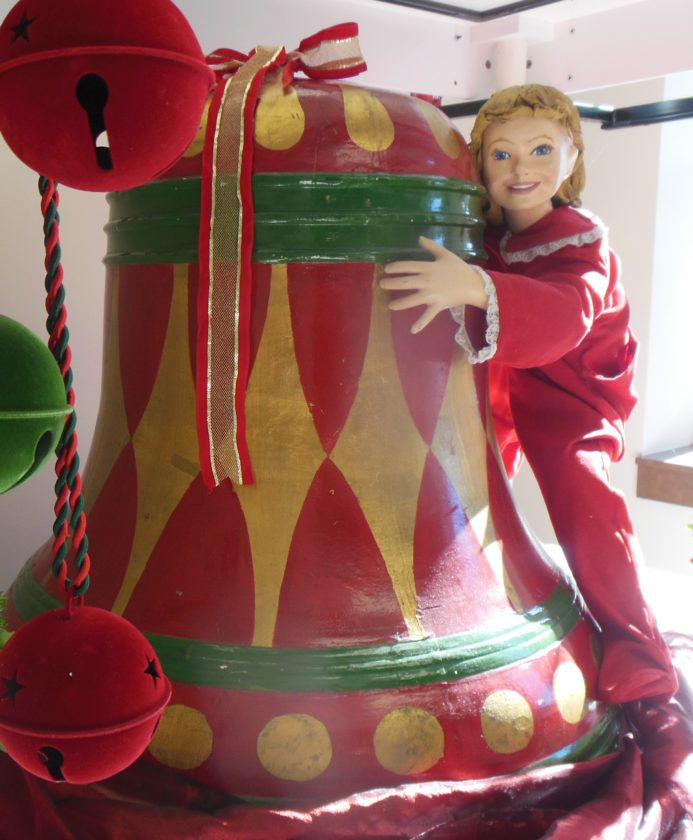 MARK MARONEY/Sun-Gazette The iconic bell that once was displayed at L.L. Stearns and Sons department store is in the collection at the Peter Herdic Transportation Museum, 810 Nichols Place. It often is loaned to various merchandisers to be put in display windows for the holidays.