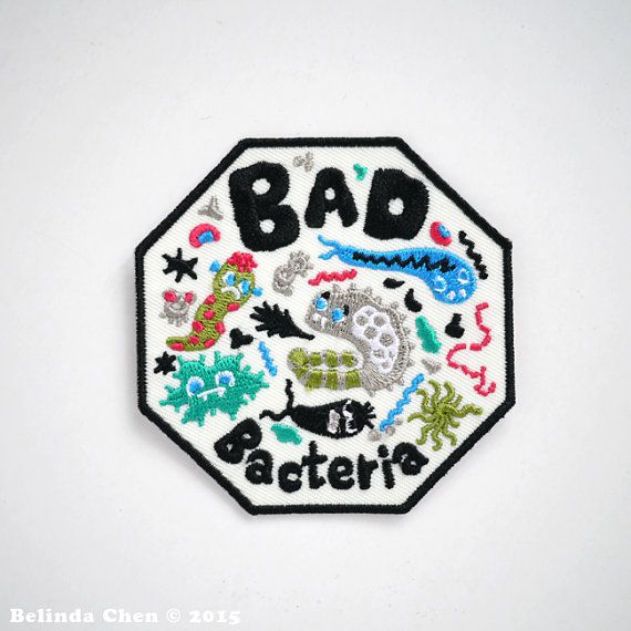 Bad Bacteria Iron On Patch di BelsArt su Etsy