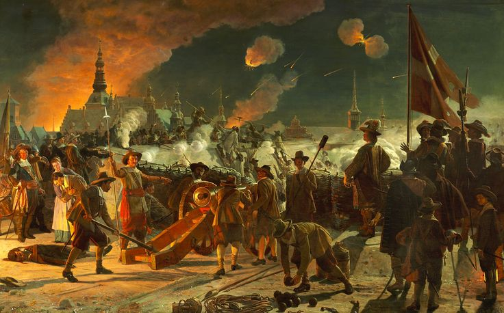 The assault on Copenhagen in 1659. Notice that the Swedish troops are wearing camouflage