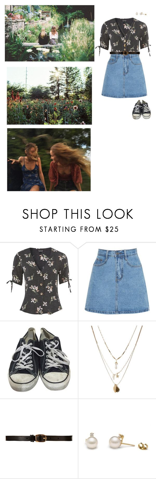 """""""permanent vacation"""" by abigailshanice ❤ liked on Polyvore featuring Topshop, Converse, Orelia and CO-OP Barneys New York"""