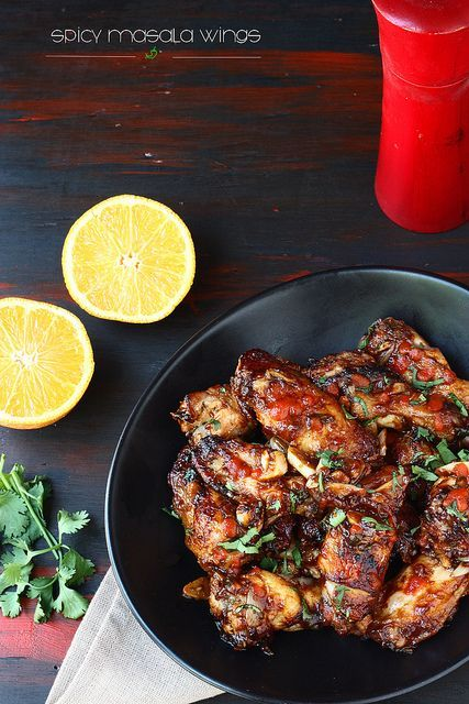 BAKED SPICY MASALA CHICKEN WINGS #chickenwings #baked #masala