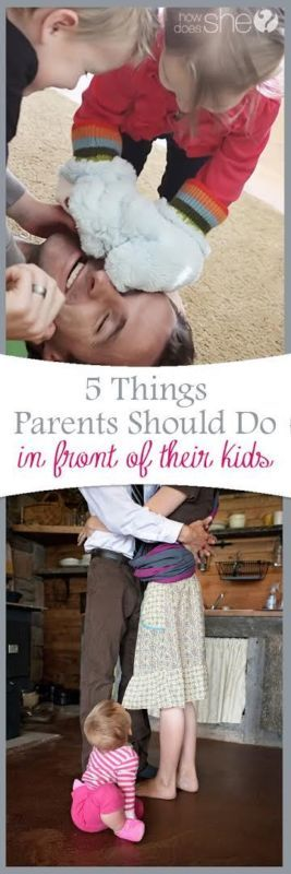 Kids are porous little sponges, and if you're a parent, you know that they are constantly watching your every move and soaking up every good and bad word you say. Sometimes it's difficult to have your actions back up your words. Take time today to make a change, and read on as eBay shares 5 things you should always do in front of your kids.