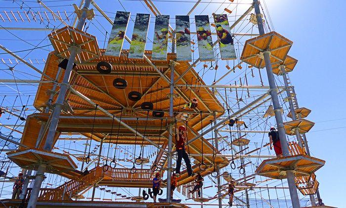 Castle Rock Zipline Tours - Downtown Castle Rock: Zip Line or Sky Trek Experience for Two or Four at Castle Rock Zipline Tours (Up to 44% Off)