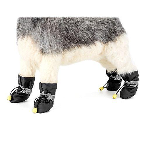 Hund Hüte, Kappen & Bandanas Stiefel Hundekleidung Stoff Frühling/Herbst Winter Lässig/Alltäglich warm halten Neujahr Solide Schwarz Grau 2017 - €7.17