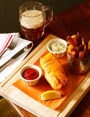 Crispy British fish and chips at The Dandelion? Yes, please.