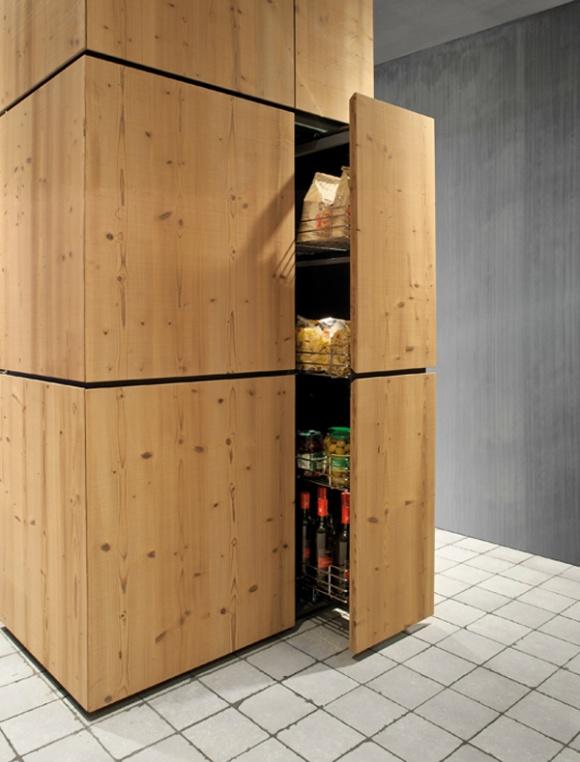 Natural Skin Kitchen Kabinet Dapur Moden Kabinet Dapur