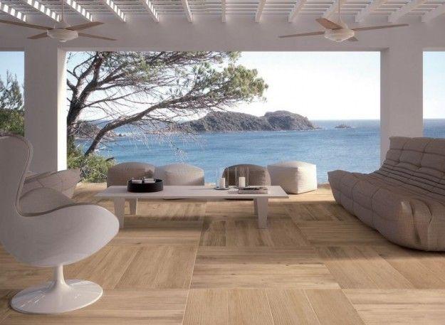 Parquet per esterno - Il parquet per esterno è un'ottima idea per pavimentare un terrazzo dal design moderno.