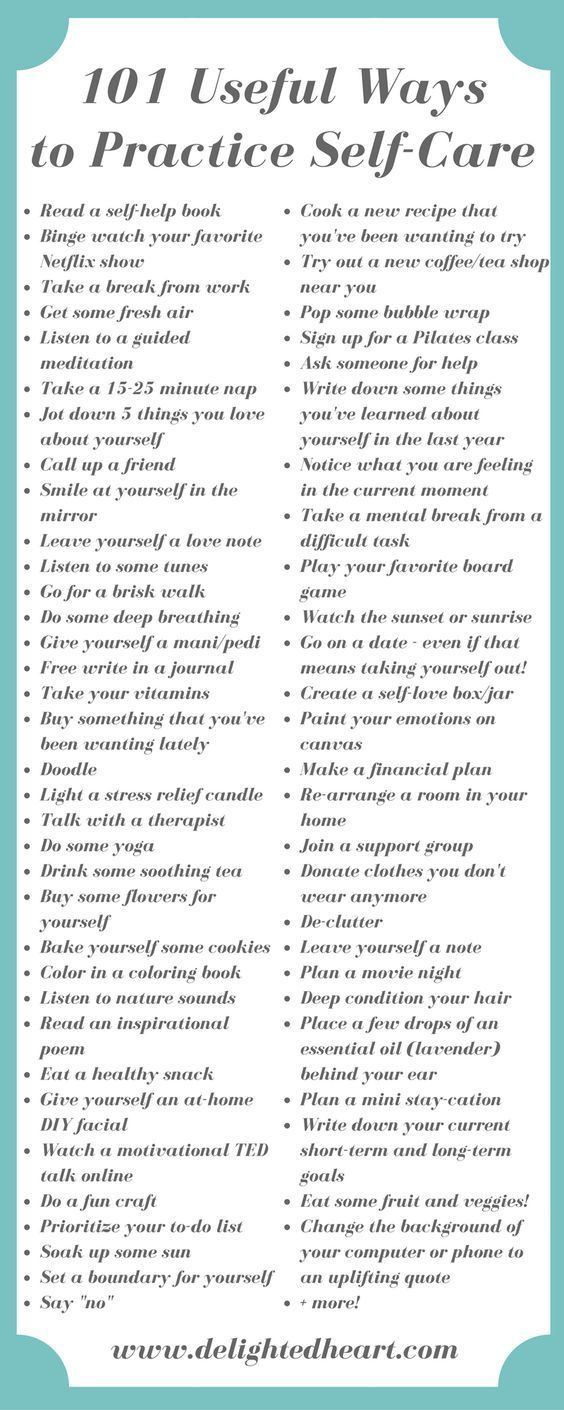 Your complete go-to list when you need help finding a self-care practice to…
