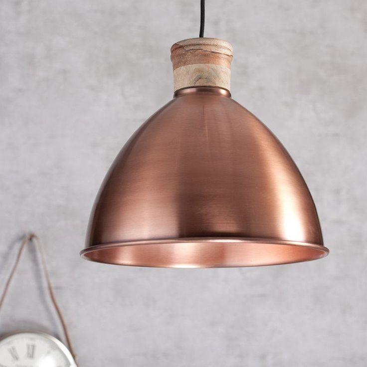 Lampa Toscana copper metal 32cm 32cm #dekoracje #meble #furniture #lamp #lampy #interior #design #decoration #salon #livingroom #home