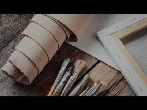 (35) Самостоятельное изготовление холстов для живописи - YouTube