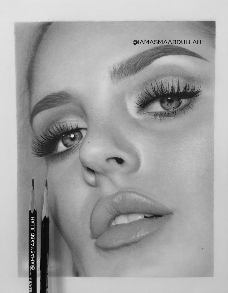 Portrait of Chloe morello by Asma Abdullah. 95%, Stay tuned! For more details check out my Instagtam: @iamasmaabdullah . #Art #chloemorello #portrait #drawing #charcoaldrawing #photorealistic #hyperrealism #photorealism #makeup #artist