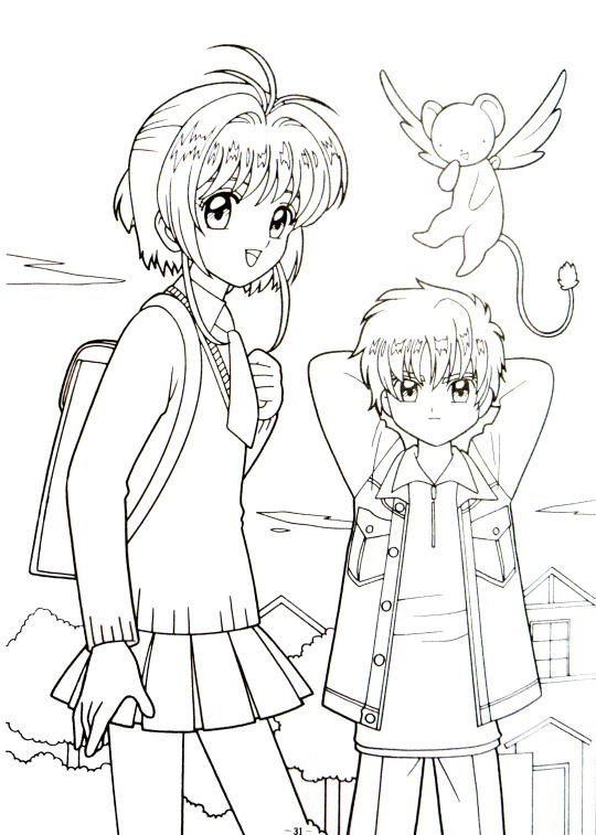 coloring pages cardcaptors - photo#10