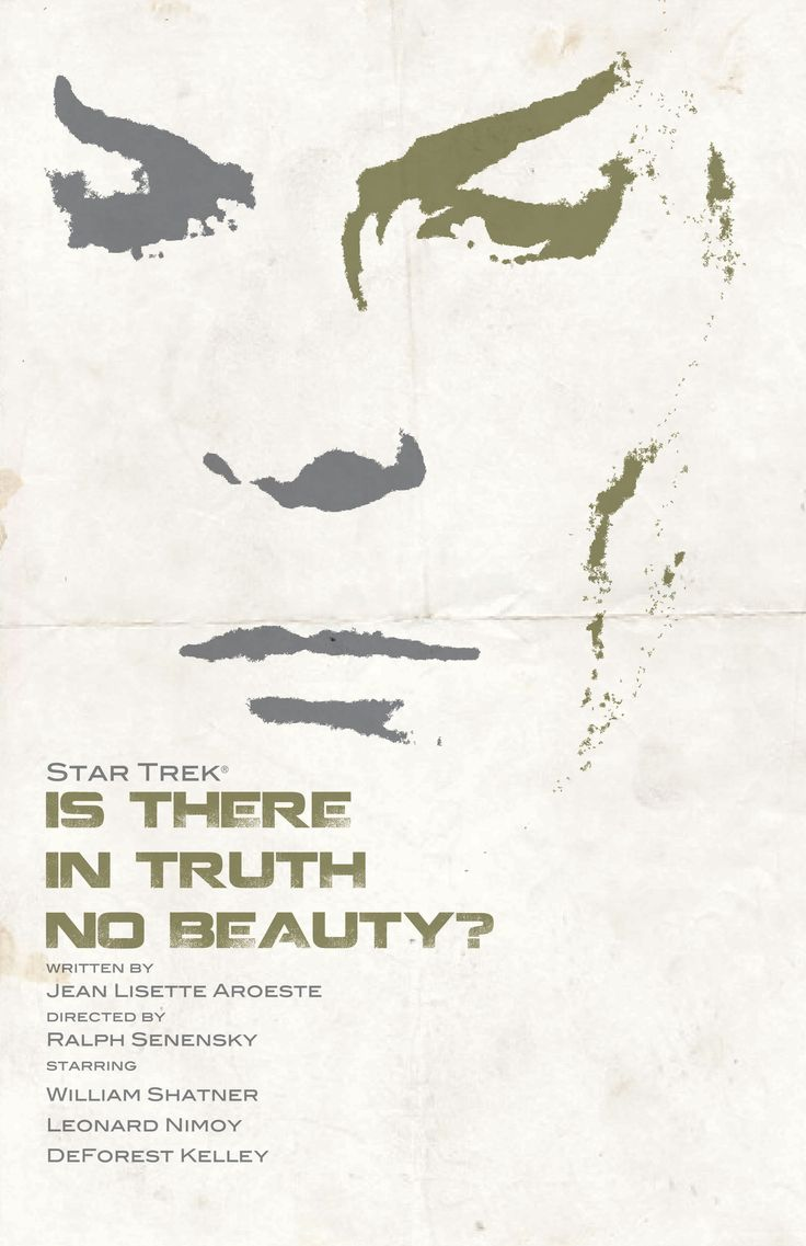 """Star Trek"" original series movie-like poster of episode ""Is There in Truth No Beauty?"" from the book ""Star Trek: The Art of Juan Ortiz."""