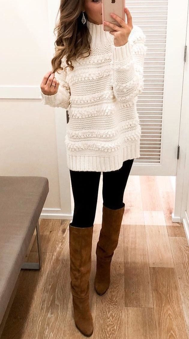 Beautiful off white knitted sweater