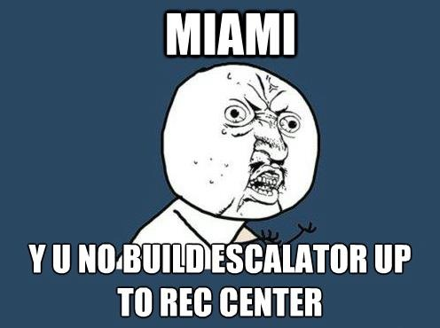 Escalator to the Rec Center