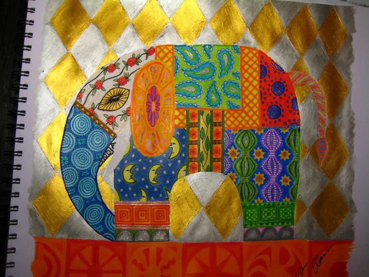 Indian Elephant Art   Indian Elephant/Indisk fant « Tovas Art