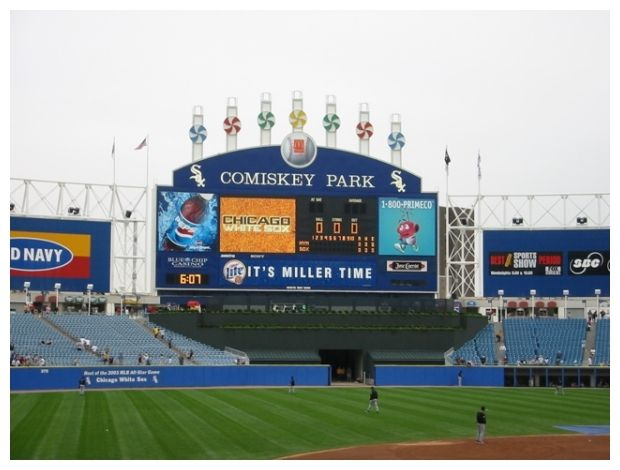 New Comiskey Park Scoreboard The White Sox Pinterest