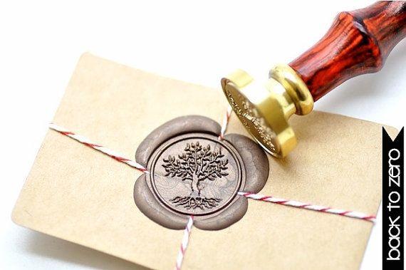B20 Wax Seal Stamp Lebensbaum Wurzeln
