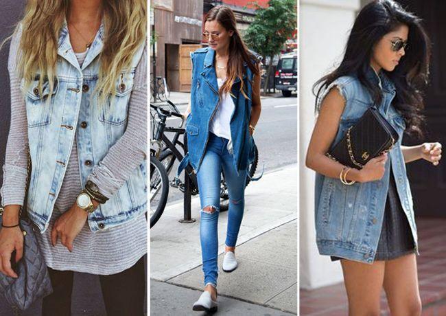 Resultado de imagem para maxi colete estilo rock jeans