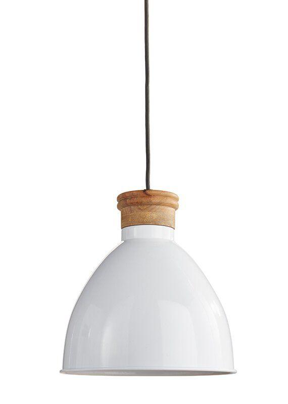 Mack Milo Allessandra 1 Light Single Bell Pendant Wayfair Ceramic Pendant Light Small Pendant Lights White Metal Pendant Light