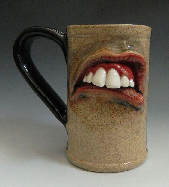 Mouth Mug- FOR SALE by thebigduluth.deviantart.com on @deviantART