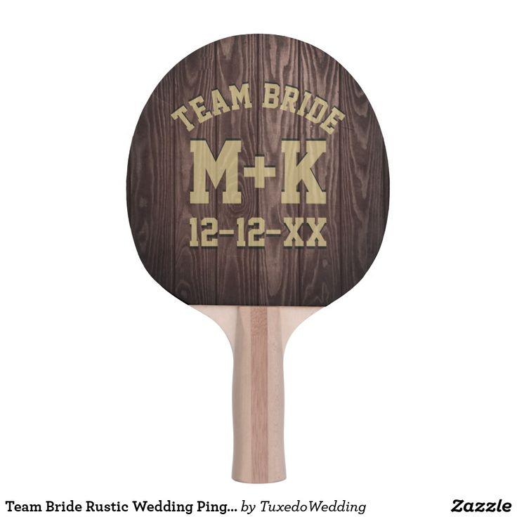Team Bride Rustic Wedding Ping Pong Paddle