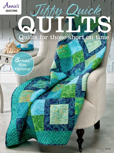 Here is your go-to book when you need or want to make a fast but stylish quilt!   All the projects in this book can easily be made in a weekend -- some in a day. They are all perfect for beginners and look great in all types of fabric. Eight of the 10 projects have size options, giving you a total of 18 possible projects! There are also tutorials included for:  3-D Bow-Tie Technique  Partial Seam Construction  Raw-Edge Fusible Applique  Quilting Basics   48 pages