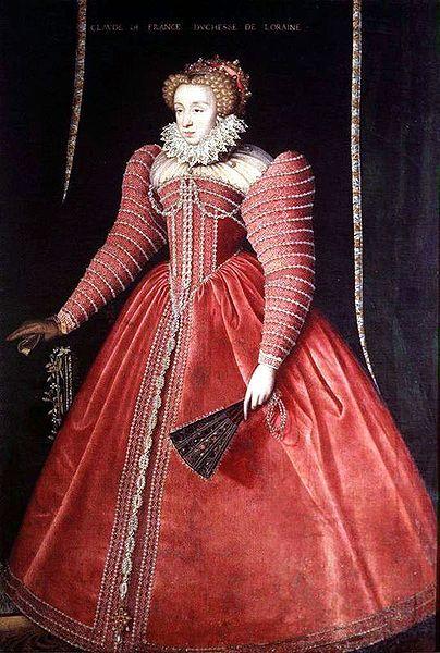 Claude de Valois,Duchesse de Lorraine (1547-1575),daughter of Henry II of France  and Catherine de Medici