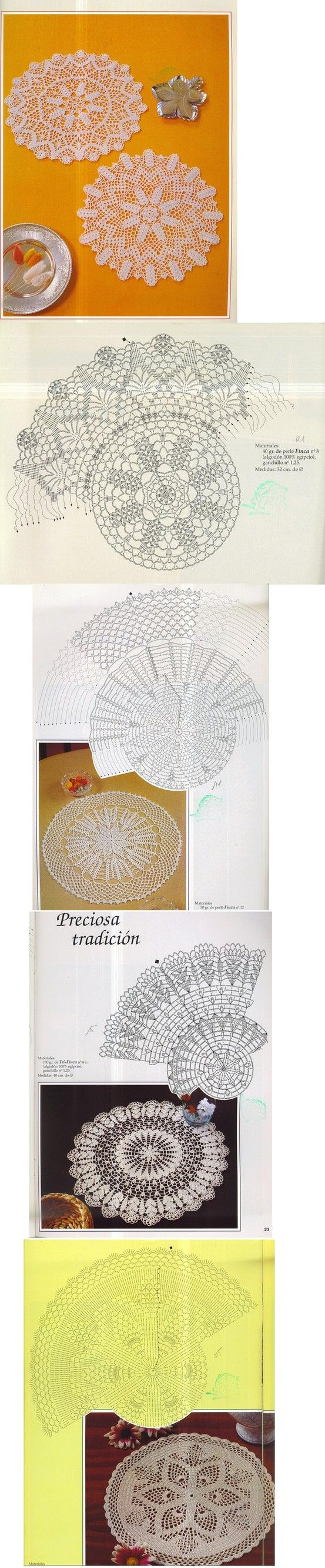 crochet doilies! -the vintage touch! <3<3