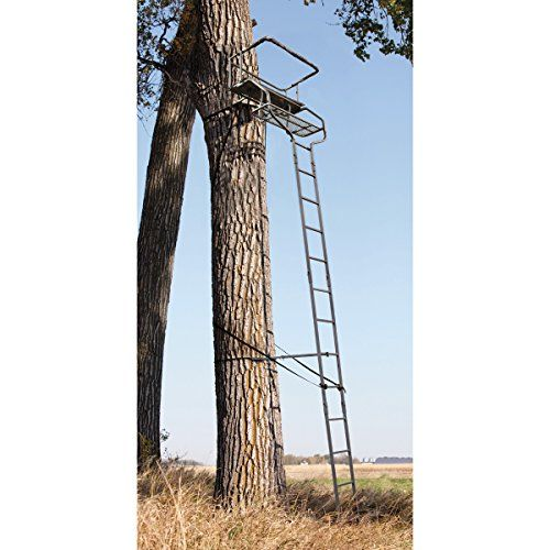 18 Deluxe 2 Man Hunting Ladder Tree Stand Sniper Smile