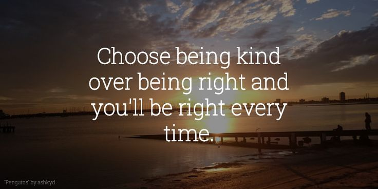 Are you #kind or are you #right?