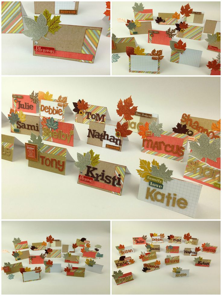Ideas For Thanksgiving Cards To Make Part - 38: DIY Thanksgiving Place Cards